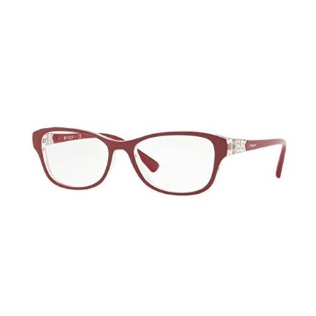 Vogue VO5170B Eyeglass Frames 2562-52 - Top Dark Red/serigraphy (Vogue Eyeglasses Online)