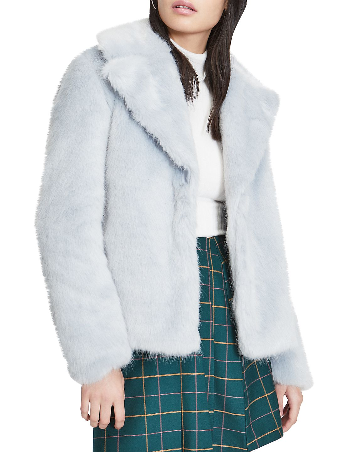 Short Plush Faux Fur Coat