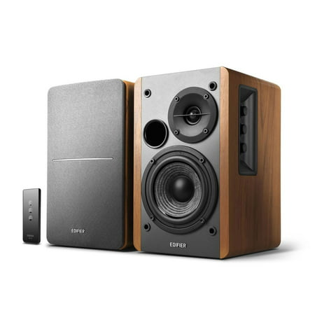 - Edifier R1280T Powered Bookshelf Speakers - 2.0 Active Near Field Monitors - Studio Monitor Speaker - Wooden Enclosure - 42 Watts RMS