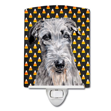 Scottish Deerhound Candy Corn Halloween Ceramic Night Light SC9658CNL - Scottish Name For Halloween