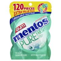 Mentos Pure Fresh Spearmint, Gum, 120 Pieces