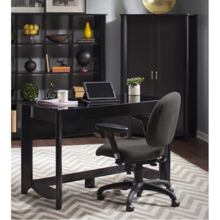 Bush Aero Computer Desk with Tall Storage Cabinet in Classic Black - image 7 de 7