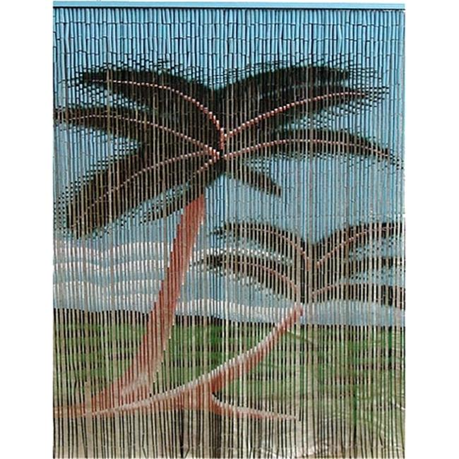 Bamboo54 5236 Double Palm Tree Curtain