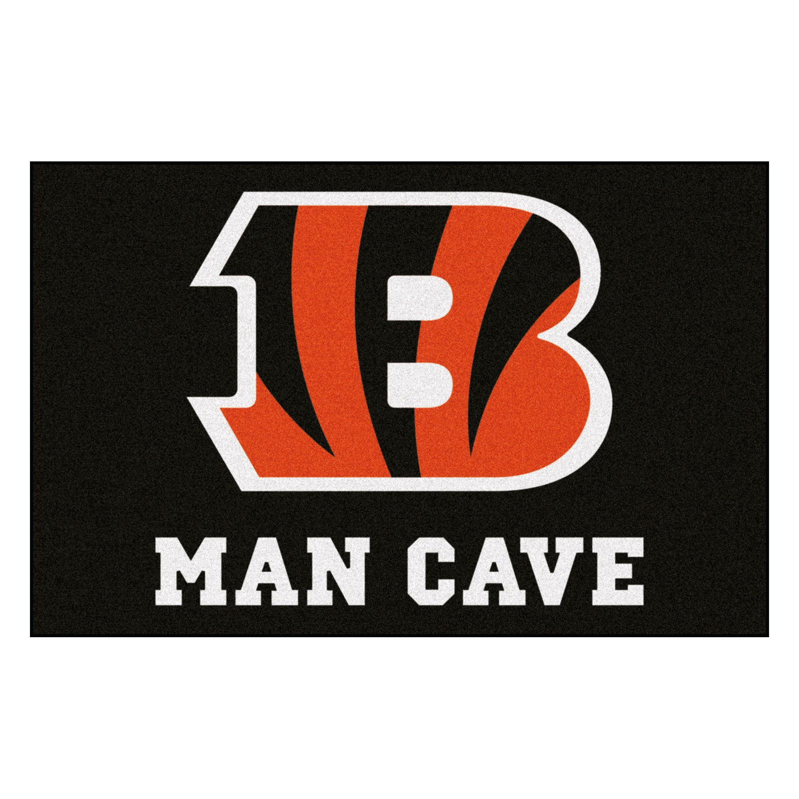 """NFL - Cincinnati Bengals Man Cave Starter Rug 19""""x30"""""""