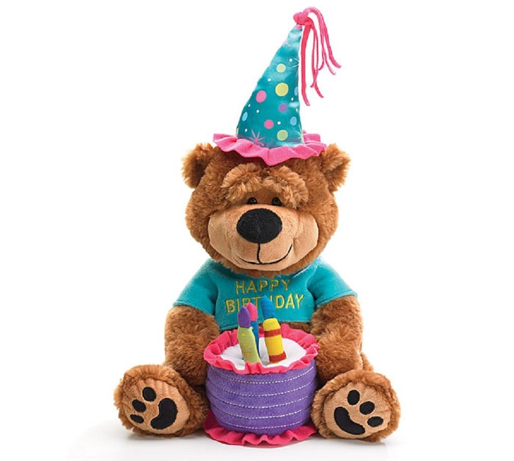 "Adorable Happy Birthday Teddy Bear With Cake That Plays ""Happy Birthday To You""... by"
