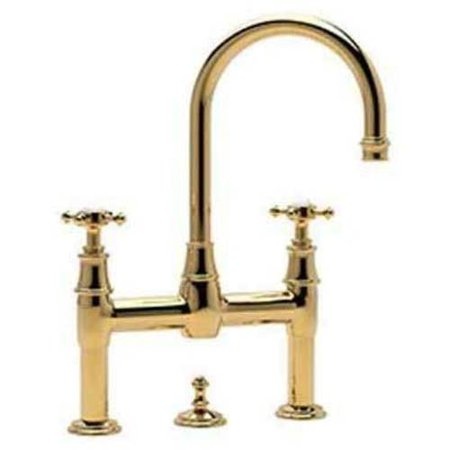 Rohl U3709 Perrin And Rowe Bridge Bathroom Faucet And Remote Pop Up Drain Available In Various