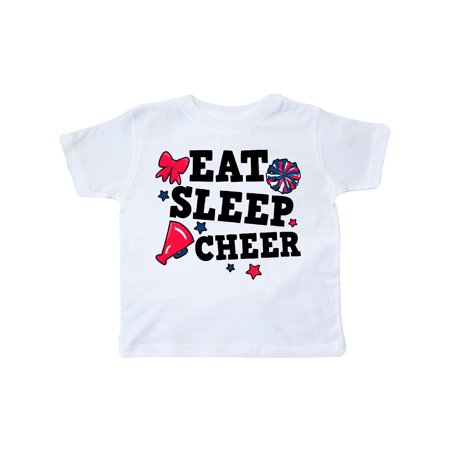 Cheerleading Eat Sleep Cheer Toddler T-Shirt](Children's Cheerleading Uniforms)