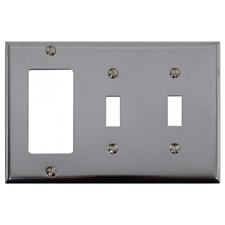 Switchplate Chrome Double Toggle