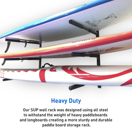 Paddle Board Rack >> Sup Racks For Wall 3 Level Paddle Board Storage Rack Sup Board Rack For Easy Storage And Paddle Board Racks Garage