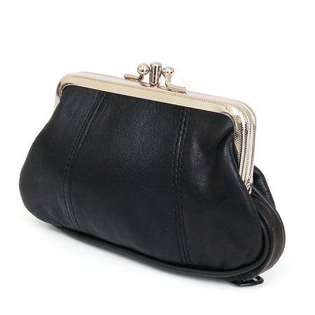 SBR Designs - Leather Womens Wallet Metal Frame Coin Purse ID Credit Card Case Coin Purse Mini - Walmart.com