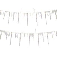 Club Pack of 24 Ice Palace Iridescent Twisted Icicle Christmas Garlands 9'