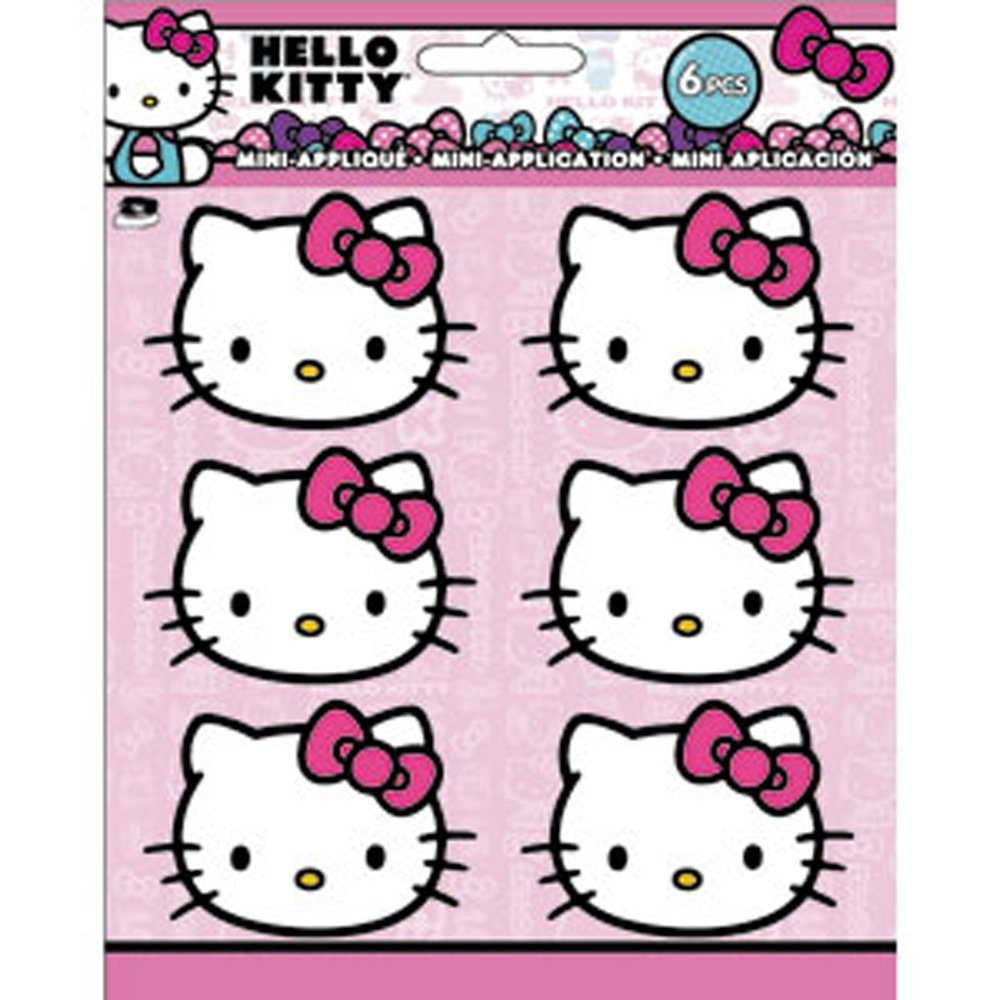 Patch Set Hello Kitty Head Shot Iron On New Toys Licensed p-hk-0016-s by C & D