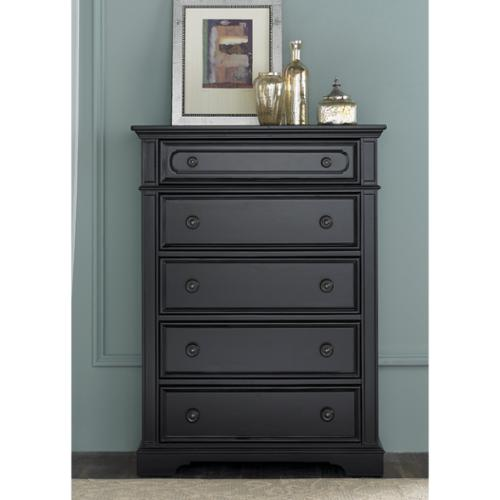 Liberty Carrington II Black 5-Drawer Chest
