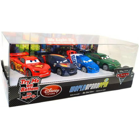 Disney Cars Light Up World Grand Prix Diecast Car Set [Set