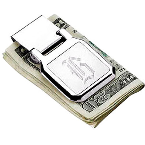 Personalized Stainless Steel Folding Money Clip