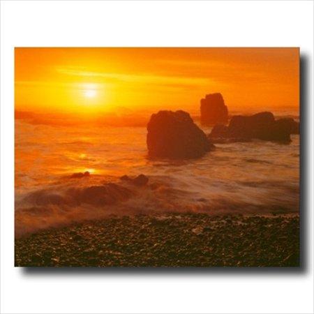 Ocean Beach Sunset Landscape Wall Picture Art Print Ocean Sunset Pictures