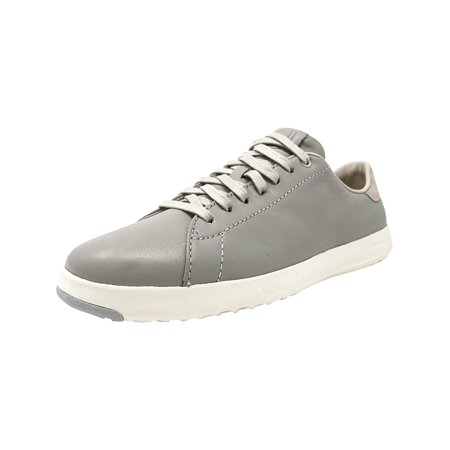 Cole Haan Women's Grandpro Tennis Silverfox Ankle-High Leather Fashion Sneaker - 7.5M Cole Haan Leather Coat