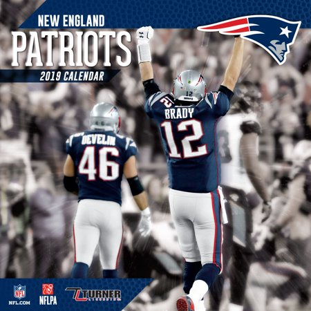 2019 New England Patriots 2019 12X12 TEAM WALL CALENDAR, NEW ENGLAND PATRIOTS   Walmart.com