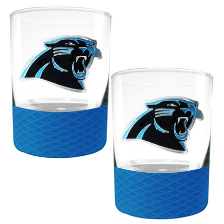 Carolina Panthers 2-Pack 14oz. Rocks Glass Set with Silcone Grip - No Size