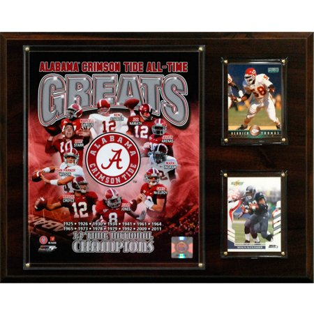 C&I Collectables NCAA Football 12x15 Alabama Crimson Tide All-Time Greats Photo Plaque
