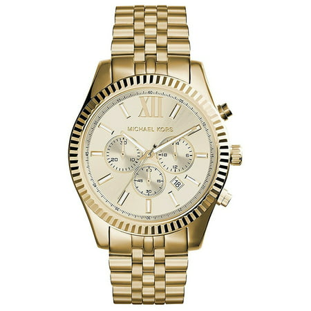 Michael Kors Men's Lexington Gold-Tone Chronograph Watch, (Best Replica Michael Kors Watches)