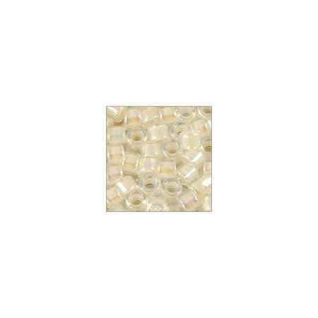 Miyuki Delica Seed Bead 11/0 Transparent Cream AB (36 Grams)