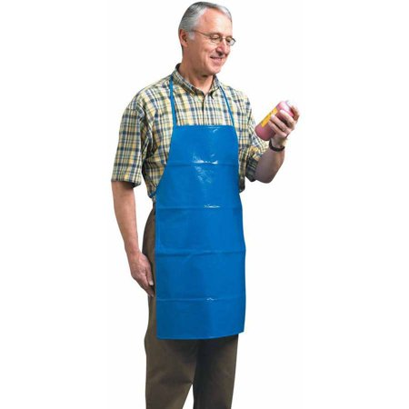 School Smart Easy-to-Clean Vinyl Waterproof Adult Art Apron, 29.5