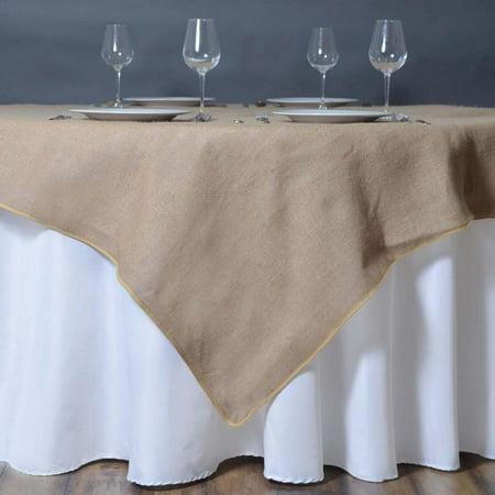 Efavormart CHAMBURY CASA Fine Rustic Burlap Tablecloth/Square Tablecloth