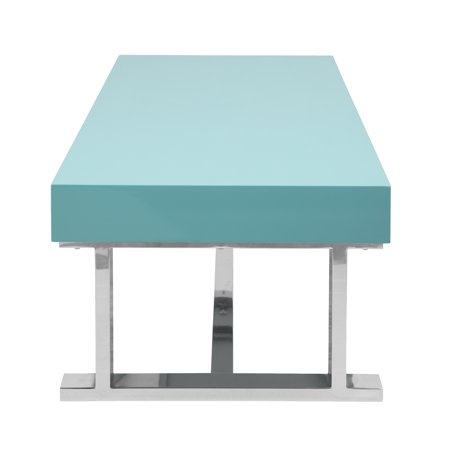 Luster Contemporary Coffee Table in Light Blue by LumiSource