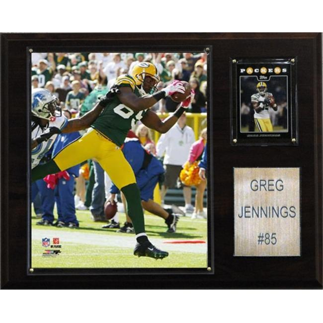 C & I Collectables 1215GJENNIN NFL Greg Jennings Green Bay Packers Player Plaque