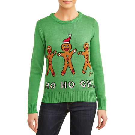American Stitch Women's Ho Ho Oh! Ugly Christmas Sweater ()