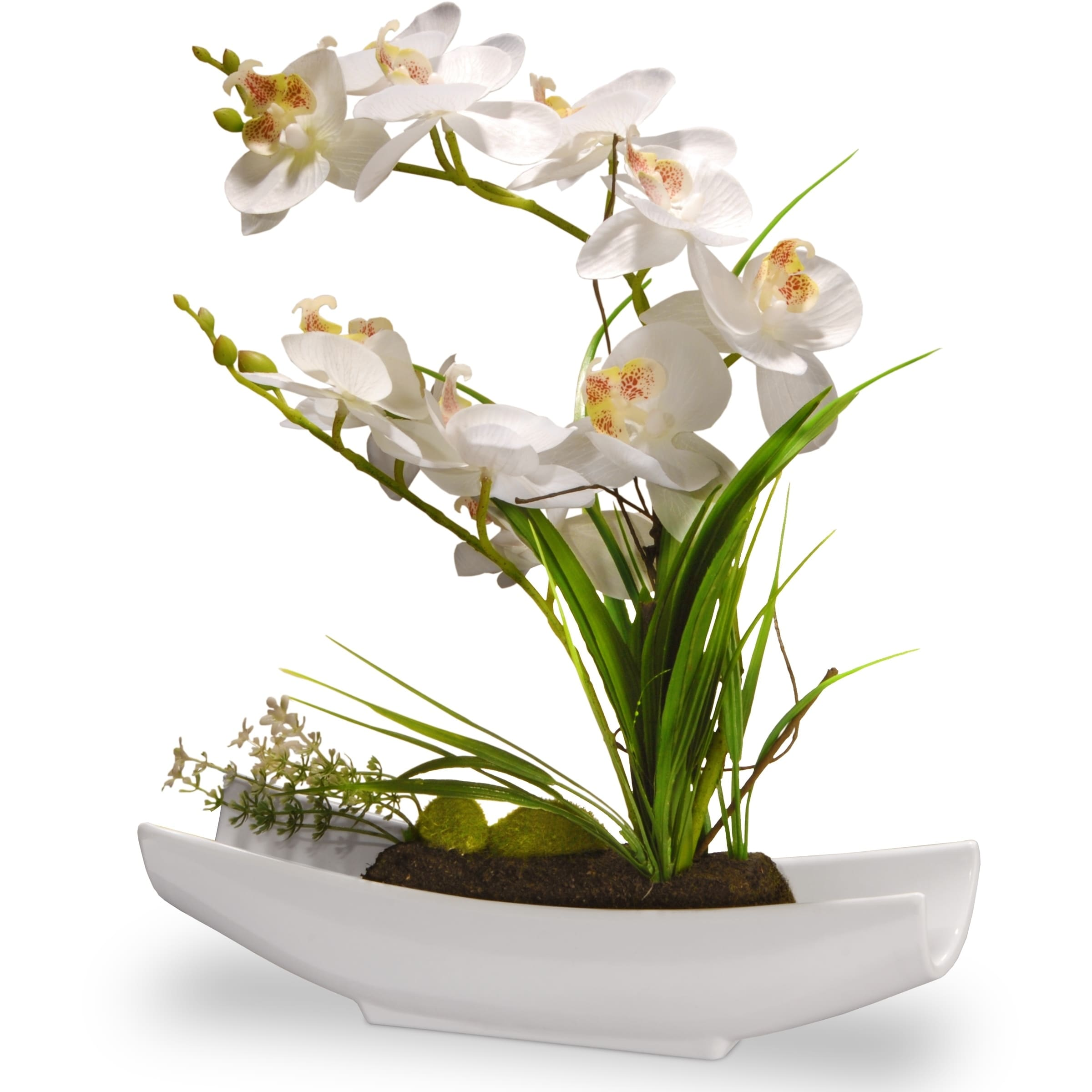 """13"""" White Orchid Flowers"""
