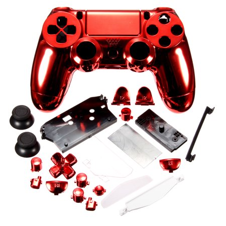 d7d92255 M.way Chrome Plating Housing Shell Case Full Mod Kits for PS4 Controller  Dual Shock 4 PS4 Accessories Parts Replacements - Walmart.com