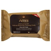 Ambi Even & Clear Makeup Removing Cleansing Cloths, 30 Count
