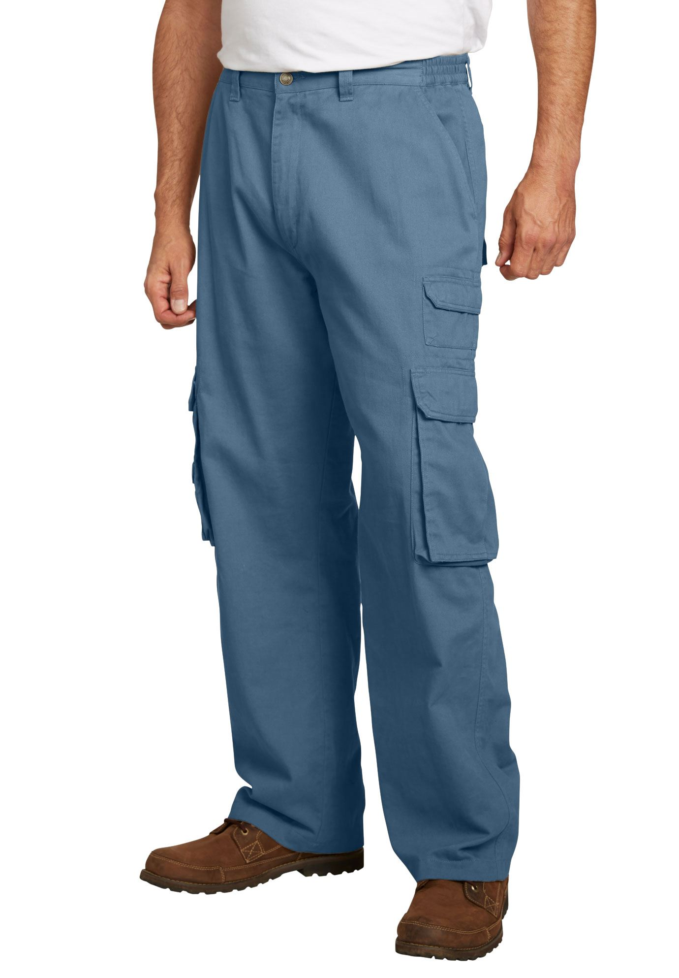 Men's Big & Tall Side-elastic Ranger Cargo Pants By Boulder Creek