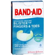 BAND-AID Advanced Healing Blister Cushions for Fingers & Toes 8 Each (Pack of 2)