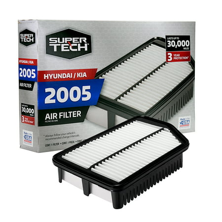 2005 Focus Air Filter (SuperTech 2005 Engine Air Filter, Replacement Filter for Hyundai / Kia)