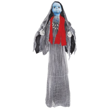 Creepy Hanging Voodoo Baby Doll Witch Girl Light Up w/ Sound Halloween Prop - Hanging Witch