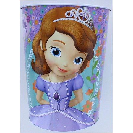 Disney Sofia the First Wastebasket - Garbage Can - Smart Princesses Rule Disney Princess Trash Can