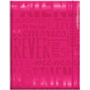 "Embossed Gloss Expressions 100-Pocket Photo Album, 4.75"" x 6.5"", Friends, Hot Pink"