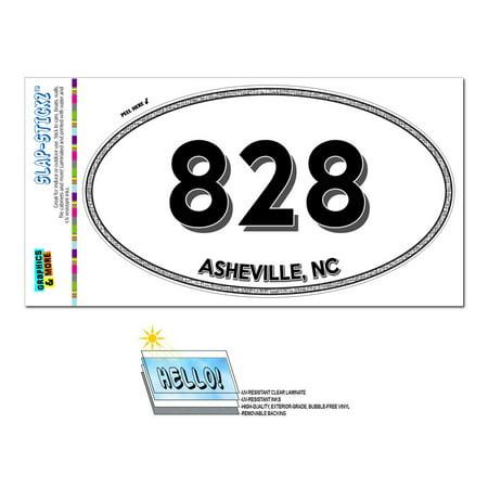 828 - Asheville, NC - North Carolina - Oval Area Code Sticker](Party City Asheville Nc)