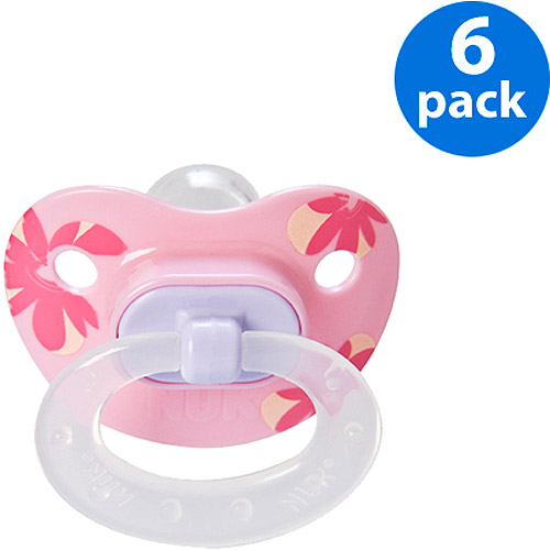 NUK/ Gerber - Orthodontic Pacifiers Nature/Pink 6-pack, 0-6mos (sz 1)