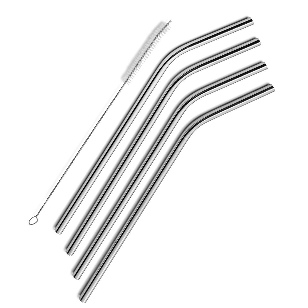 4 Bend Long 30 Oz Stainless Steel Drinking Straws Fits