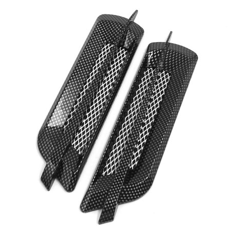 Carbon Fiber Hood Vents - 2Pcs Carbon Fiber Pattern Car Air Flow Intake Grille Vent Cover Hood Sticker