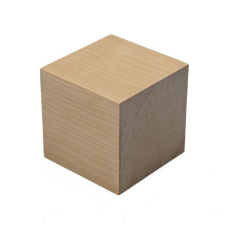"Wooden Cubes – 2-1/4"" Inch - Baby Wood Square Blocks – For Puzzle Making, Crafts, And DIY Projects – Pack of 4 - by Woodpecker Crafts"