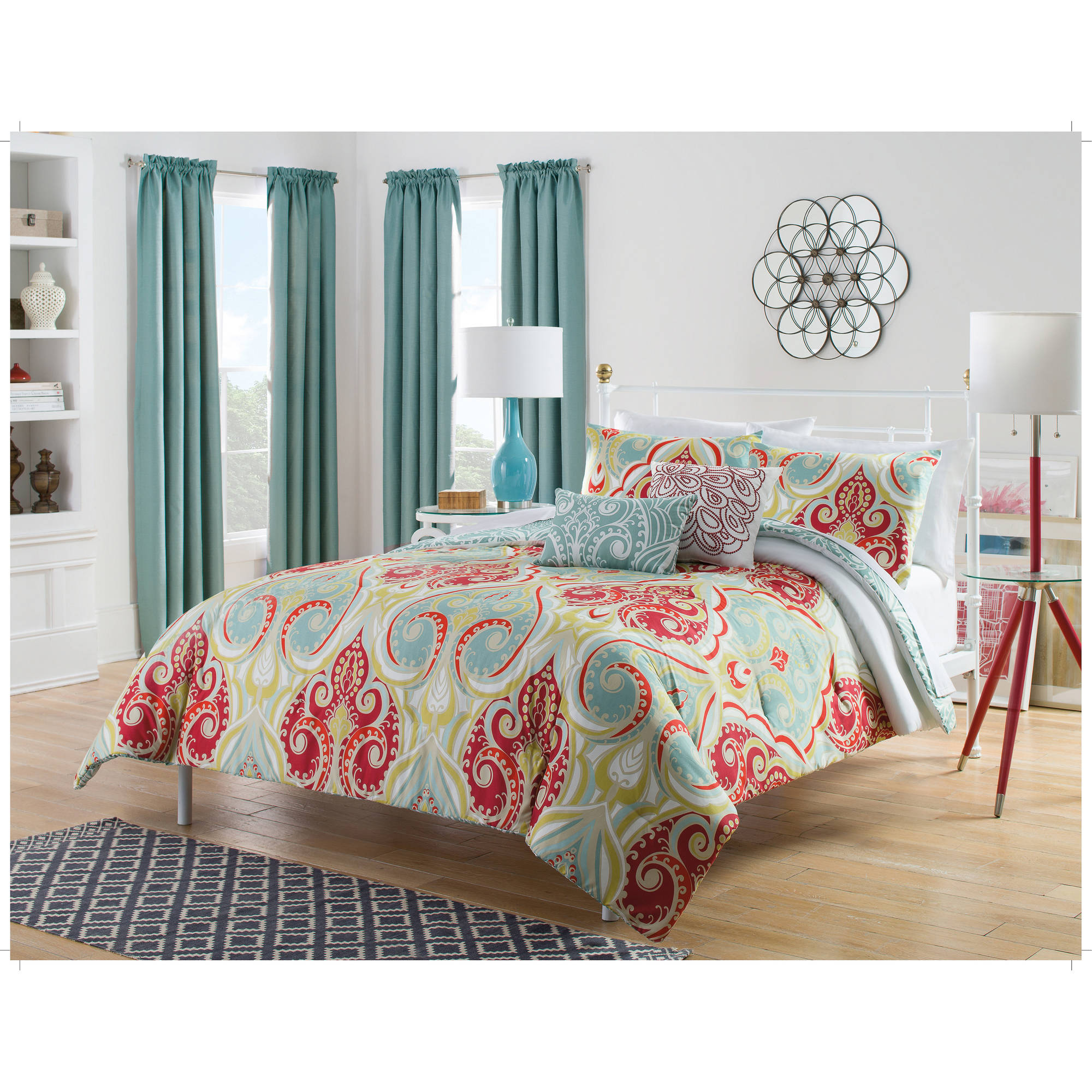 Harmony At Home Festival 5-Piece Reversible Bedding Comforter Set