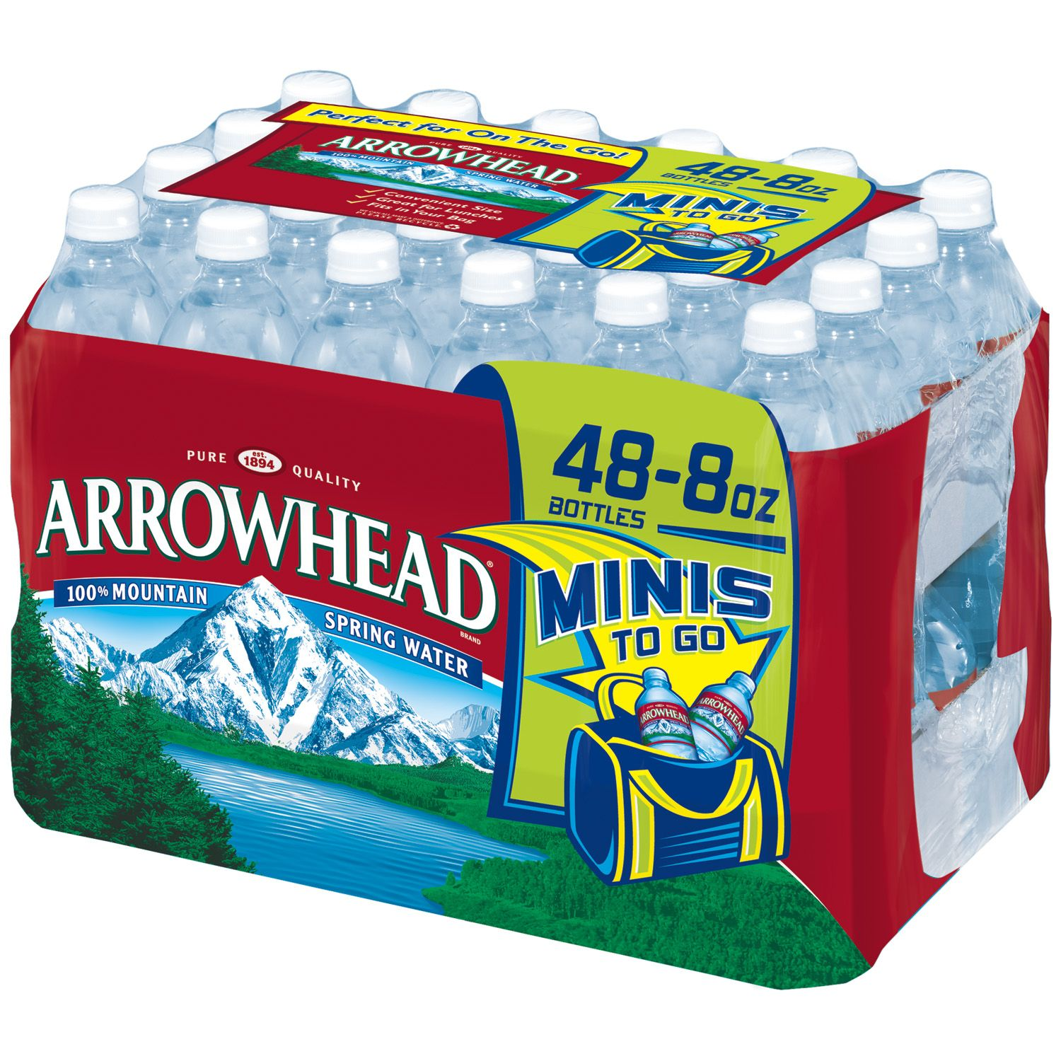 Arrowhead Natural Spring Water (8 oz. bottles, 48 ct.)