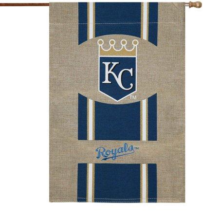 Kansas City Royals Vertical Burlap House Flag - No (Tiny Houses In Kansas City For Sale)