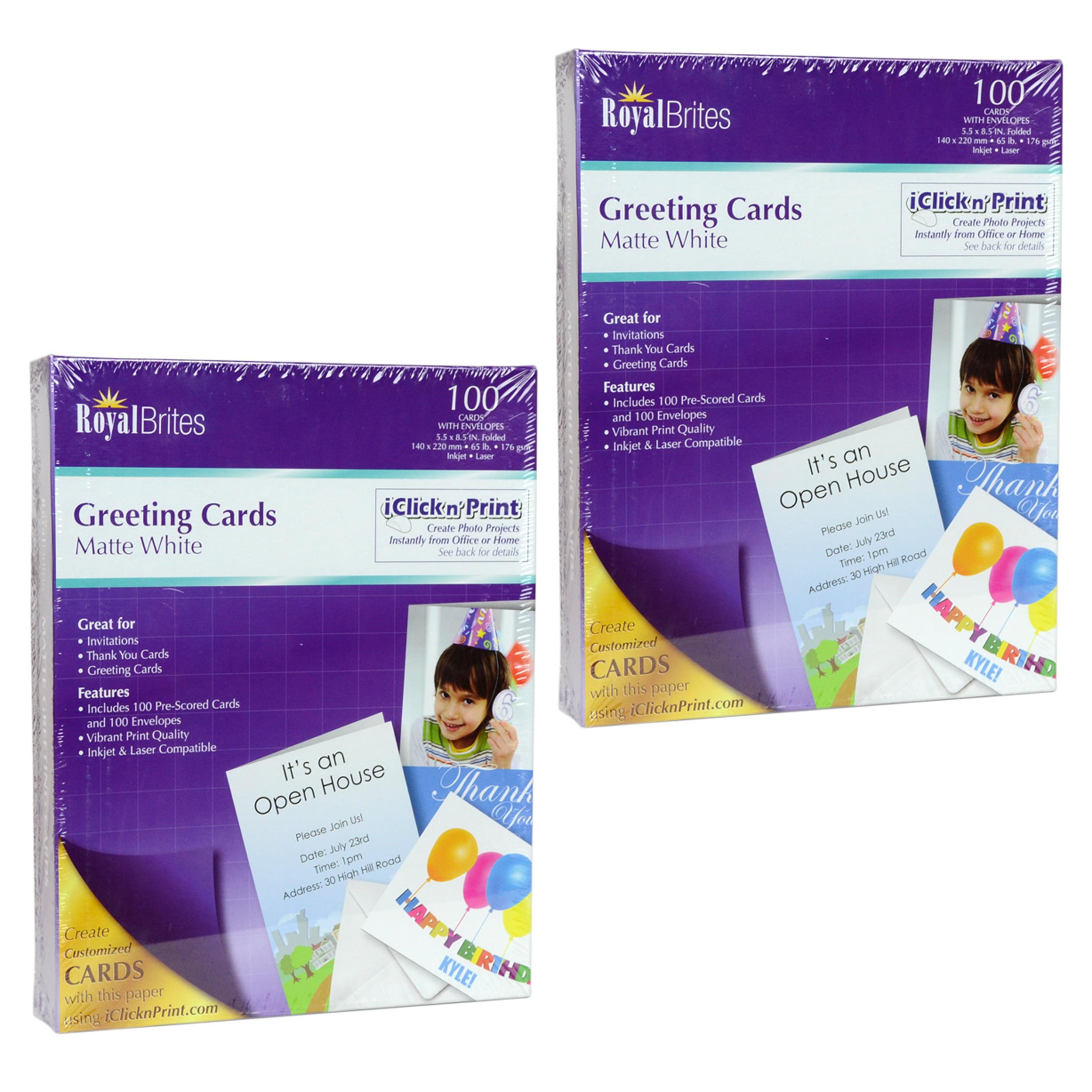 Royal brites 100ct matte white greeting card stock 85 x 11 w royal brites 100ct matte white greeting card stock 85 x 11 w envelopes 2 pack walmart m4hsunfo