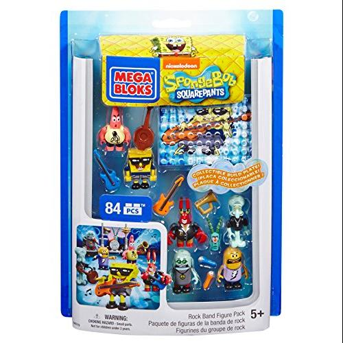 Mega Bloks SpongeBob Rock Band Figure Pack Multi-Colored